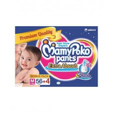 Deals, Discounts & Offers on Baby & Kids - Mamy Poko Pants Extra Absorb-M, 56+4 Pcs
