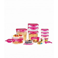 Deals, Discounts & Offers on Storage - Ruchi Housewares Pink Super Lock & Seal Kitchen Containers