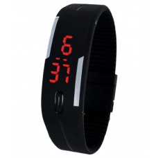Deals, Discounts & Offers on Men - Shayrag's Black Rubber Digital Led Watch