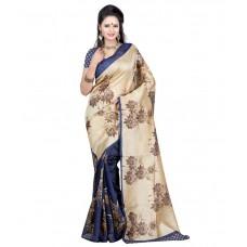 Deals, Discounts & Offers on Women Clothing - Vardhita Fashion Beige Bhagalpuri Silk Saree