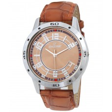 Deals, Discounts & Offers on Men - Dezine Classy Brown Wrist Watch offer