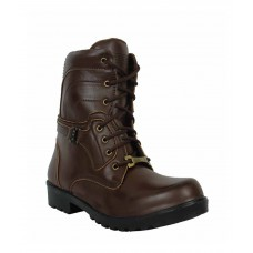 Deals, Discounts & Offers on Foot Wear - Elvace Brown Synthetic Leather Boots
