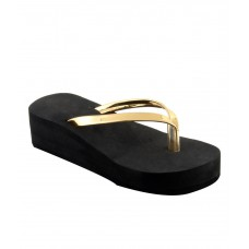 Deals, Discounts & Offers on Foot Wear - Shoe Lab Gold Slippers offer