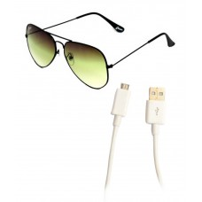 Deals, Discounts & Offers on Men - Closer Green Medium Men Aviator Sunglasses