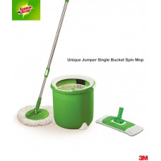 Deals, Discounts & Offers on Home & Kitchen - Flat 57% offer on Jumper Spin Mop with Round and Flat Heads with Refill