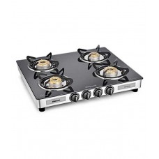 Deals, Discounts & Offers on Home Appliances - Sunflame Diamond 4B SS- GT 4 Burner Gas Stove Toughened Glass Top