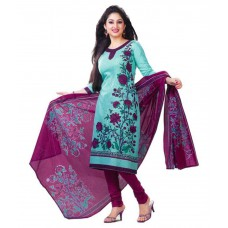 Deals, Discounts & Offers on Women Clothing - Soru Fashion Blue Cotton Unstitched Dress Material