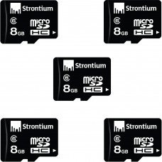 Deals, Discounts & Offers on Mobile Accessories - Combo Of Strontium 8GB MicroSD Memory Card