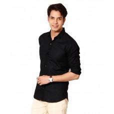 Deals, Discounts & Offers on Men Clothing - 9h Cotton Blend Black Casual Shirt