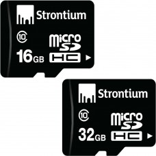 Deals, Discounts & Offers on Mobile Accessories - Strontium 16GB & 32 GB Memory Card (Class 10) at Lowest Price