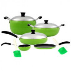 Deals, Discounts & Offers on Home Appliances - Sheffield 10 pcs apple Nonstick cookware set