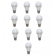 Deals, Discounts & Offers on Home Appliances - 5 Watt LED Bulb Combo Of 10 Pieces