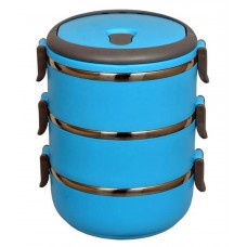 Deals, Discounts & Offers on Storage - Hengli 3 Layered Steel Lunch Box