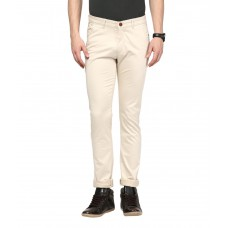 Deals, Discounts & Offers on Men Clothing - Urban Navy Beige Slim Fit Casual Chinos