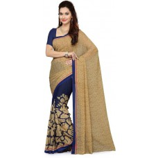 Deals, Discounts & Offers on Women Clothing - Ishin Self Design Fashion Synthetic Georgette Sari at 69% offer