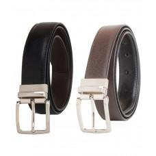 Deals, Discounts & Offers on Men - Kesari Black and Brown Belt at 62% offer