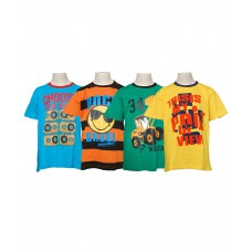 Deals, Discounts & Offers on Baby & Kids - Little Stars Pack Of 4 Multicolour Half Sleeves T-Shirt For Boys at 80% offer