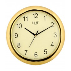 Deals, Discounts & Offers on Accessories - Solar Goldy Round 11 inch Plastic Wall Clock at 53% offer