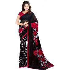 Deals, Discounts & Offers on Women Clothing - Heena Printed Fashion Georgette Sari at 63% offer