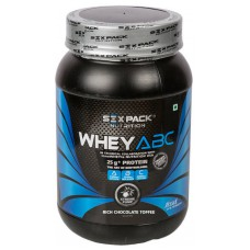 Deals, Discounts & Offers on Health & Personal Care - Six Pack Nutrition Whey ABC 1 Kg Rich Chocolate Toffee at 20% offer