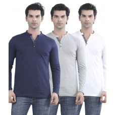 Deals, Discounts & Offers on Men Clothing - Maniac Multicolour Cotton T-shirt - Pack Of 3 at 63% offer