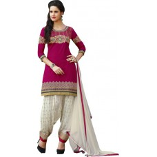 Deals, Discounts & Offers on Women Clothing - Kvsfab Cotton Embroidered Salwar Suit Dupatta Material at 77% offer