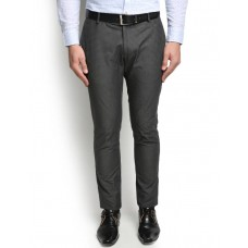 Deals, Discounts & Offers on Men Clothing - Blackberrys Slim Fit Men's Grey Trousers at 15% offer