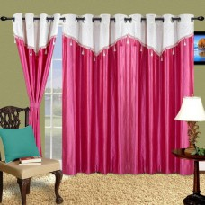Deals, Discounts & Offers on Home Improvement - Flat 64% off on Cortina Polyester Floral Eyelet Door Curtain