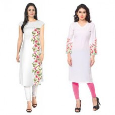 Deals, Discounts & Offers on Women Clothing - Flat 74% off on ZIYAA Faux Crepe Kurti
