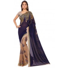 Deals, Discounts & Offers on Women Clothing - Flat 66% off on KASHVI SAREES Printed Fashion Georgette Sari