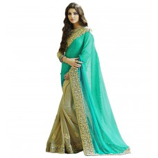 Deals, Discounts & Offers on Women Clothing - Flat 69% off on Glory Sarees Women's Georgette Saree
