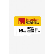Deals, Discounts & Offers on Mobile Accessories - Strontium 16 GB 65MB/s Class 10 Nitro Micro SD Card for Rs.299