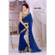 Deals, Discounts & Offers on Women Clothing - Flat 75% off on Leeps Coding Lace Work Georgette Saree