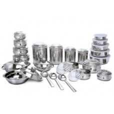 Naaptol Offers and Deals Online -  Offer on  43 Pcs Stainless Steel Storage & Set @1999 only