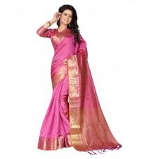 Deals, Discounts & Offers on Women Clothing - Flat 63% Offer on Fab Sarees Pink Banarasi Silk Saree