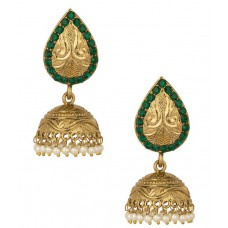 Deals, Discounts & Offers on Earings and Necklace - Flat 67% Offer on Voylla Gold Plated Jhumkis Embellished With Pearl Beads