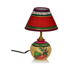 Deals, Discounts & Offers on Home Decor & Festive Needs - Flat 23% off on ExclusiveLane Madhubani Matki Table Lamp In Terracotta
