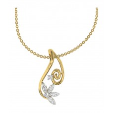 Deals, Discounts & Offers on Earings and Necklace - TBZ-The Original 18kt Yellow Gold Designer Pendant with 0.1cts Diamonds