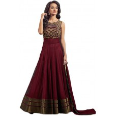 Deals, Discounts & Offers on Women Clothing - Flat 64% off on Twins Birds Net Embroidered Salwar Suit Material