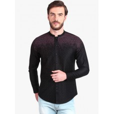 Deals, Discounts & Offers on Men Clothing - Upto 55% Off on Black Printed Slim Fit Casual Shirt
