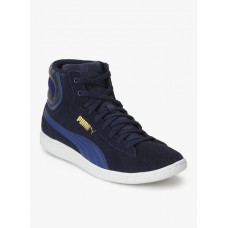 Deals, Discounts & Offers on Foot Wear - Flat 40% off on Vikky Mid Navy Sporty Sneakers