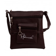 Deals, Discounts & Offers on Women - Flat 69% off on Hawai Brown PU Leather Sling Bag