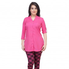 Deals, Discounts & Offers on Women Clothing - Flat 50% off on Her Three Forth Sleeve Shirt