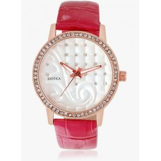 Deals, Discounts & Offers on Women - Flat 70% off on White Leather Analog Watch