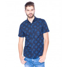 Deals, Discounts & Offers on Men Clothing - Flat 51% off on Mufti Navy Slim Fit Shirt