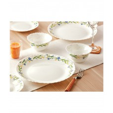 Deals, Discounts & Offers on Home & Kitchen - Flat 33% off on Larah by Borosil  pieces Dinner Set