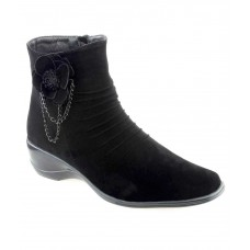 Deals, Discounts & Offers on Foot Wear - Flat 20% off on Shuz Touch Black Ankle Length Cowboy Boots