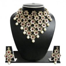 Deals, Discounts & Offers on Women - Flat 85% off on Zaveri Pearls Grand Floral Necklace Set