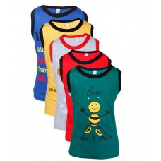 Deals, Discounts & Offers on Kid's Clothing - Flat 81% off on Goodway Junior Boy Printed Vest T-Shirts