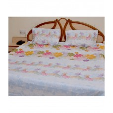 Deals, Discounts & Offers on Home Appliances - Flat 54% off on Bombay Dyeing Cotton Double Bed sheet With 2 Pillow Cover